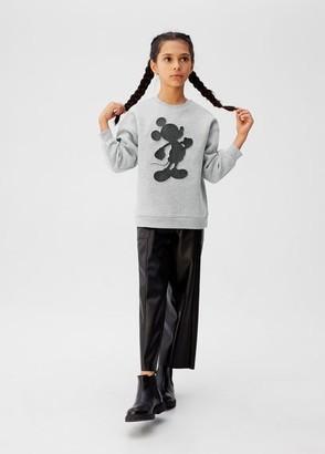 MANGO Mickey Mouse embossed sweatshirt