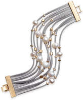 INC International Concepts Gold-Tone Layered Mixed-Media Bracelet, Only at Macy's
