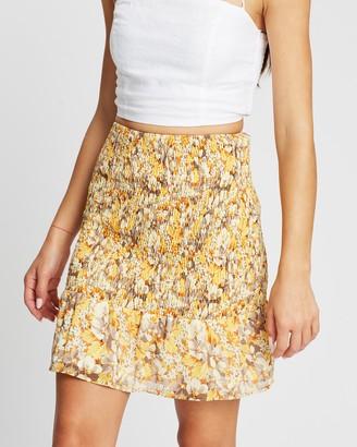 Atmos & Here Viola Shirred Mini Skirt