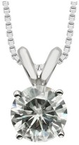 Charles & Colvard 0.80 CT. T.W. Forever Brilliant® Round Moissanite Prong Set Pendant in 14K White Gold