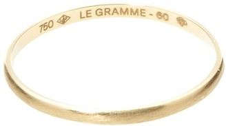 Le Gramme 1g Brushed Yellow Gold Wedding Collection Ring
