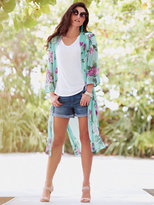 New York & Co. Sweet Pea - Chiffon Duster - Floral