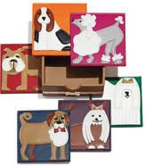 Kim Seybert Pleather Pups Coasters, 6-Piece Set