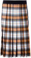 Cédric Charlier pleated tartan skirt