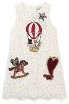 Dolce & Gabbana White Lace and Applique Dress