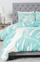 DENY Designs Linocut Monstera Duvet Cover & Sham Set