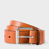 Paul Smith Men's Tan Punched Hole Leather Belt