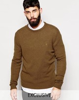 Farah Jumper In Lambswool Exclusive - Brown