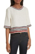 Tory Burch Women's Florentina Embroidered Linen Top