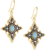 Armenta Old World Opal & Diamond Pointed Cross Drop Earrings