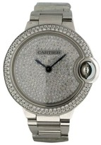 Cartier Ballon Bleu 18K White Gold 33mm Womens Watch