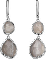 Monica Vinader Siren Double Drop Nugget sterling silver and blue lace agate earrings