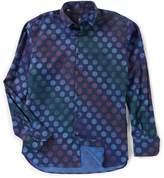 Visconti Polka Dot Jacquard Long-Sleeve Woven Shirt