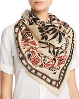 Polo Ralph Lauren Rustic Etched Floral Square Scarf