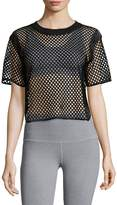X by Gottex Women's Open-Mesh Crop Top