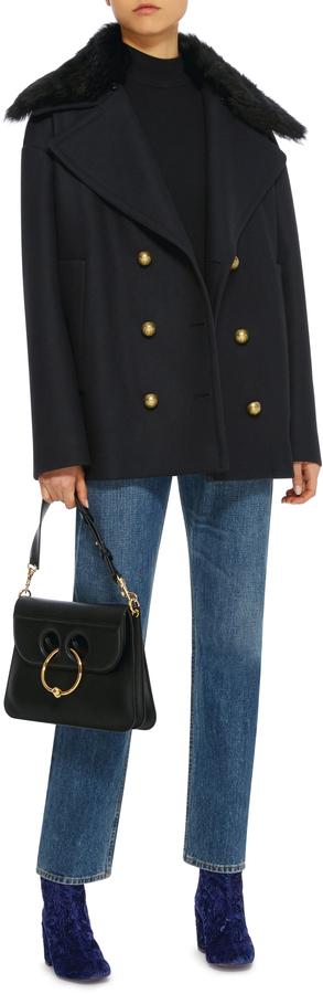 Rochas Fur Collar Pea coat