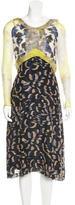 Michael Van Der Ham Silk Cloque Dress
