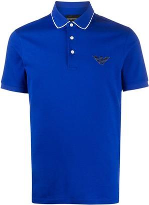 Emporio Armani Logo Patch Polo Shirt