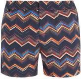MISSONI MARE Zigzag-print swim shorts