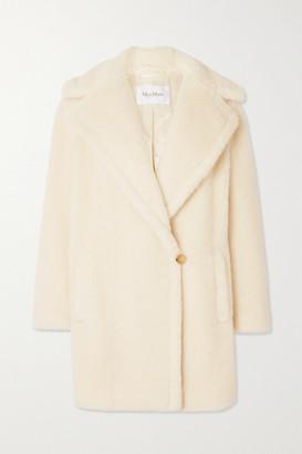 Max Mara Teddy Bear Icon Short Alpaca, Wool And Silk-blend Coat - Ivory
