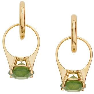 Burberry Crystal Drop Hoop Earrings