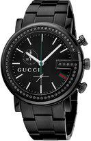 Gucci G-Chrono PVD Watch w/Bracelet Strap, Black