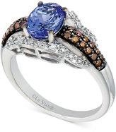 LeVian Le Vian Chocolatier® Tanzanite (1 ct. t.w.) and Diamond (3/8 ct. t.w.) Ring in 14k White Gold
