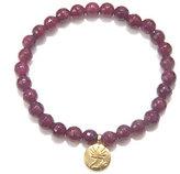 Satya 5.5mm Gemstone Bead Stretch Bracelet