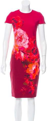 Prabal Gurung Floral Print Sheath Dress