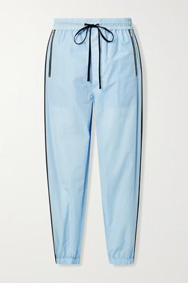 3.1 Phillip Lim Cotton-blend Jersey Track Pants - Sky blue