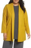 Eileen Fisher Plus Size Women's Boiled Wool Jacket
