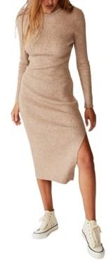 Cotton On Women's Ella Long Sleeve Maxi Split Dress