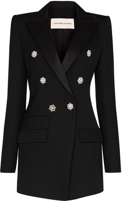 Alexandre Vauthier Crystal Buttoned Double-Breasted Blazer