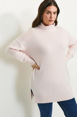 Karen Millen Curve Cashmere Roll Neck Jumper