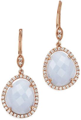 Meira T 14K 9.05 Ct. Tw. Diamond & Chalcedony Earrings