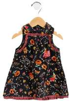 Catimini Girls' Printed Velvet Dress