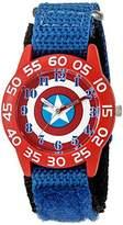 Marvel Boy's 'Captain America' Quartz Plastic and Nylon Watch
