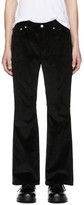 John Lawrence Sullivan Johnlawrencesullivan Black Corduroy Flared Trousers