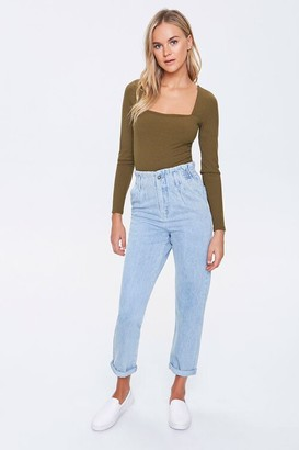 Forever 21 Paperbag Mom Jeans