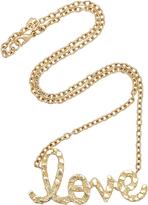 Sydney Evan XL Nugget Love Script Necklace
