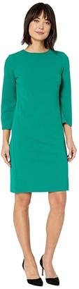 Lauren Ralph Lauren Stretch Jersey Dress (Lush Emerald) Women's Clothing