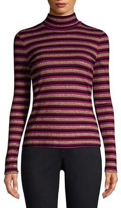 Generation Love Moira Stripe Long-Sleeve Knit Turtleneck Sweater