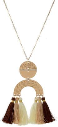 mimis Mimi's Gift Gallery Neutrals Tassels Necklace