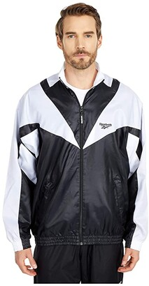 Reebok Twin Vector Track Jacket (Black) Clothing