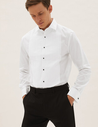 Marks and Spencer Slim Fit Pure Cotton Dinner Shirt