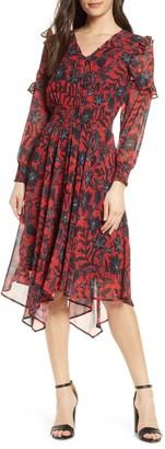 Sam Edelman Ditzy Print Long Sleeve Dress
