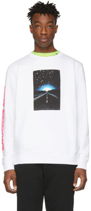 Marcelo Burlon County of Milan White Close Encounters Of The Third Kind Edition Highway Sweatshirt