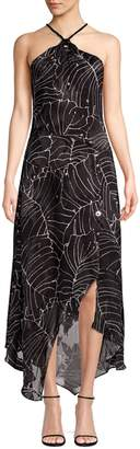 Yigal Azrouel Halterneck Rope Tie Floral Dress
