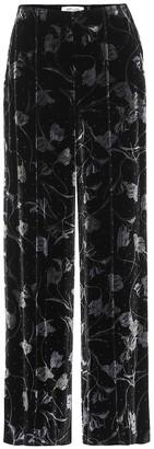 Diane von Furstenberg Mabel velvet wide-leg pants