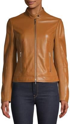 HUGO Seam Leather Jacket